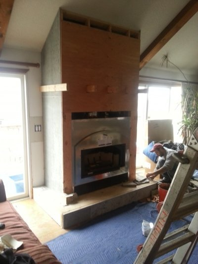 Chimney services in progress