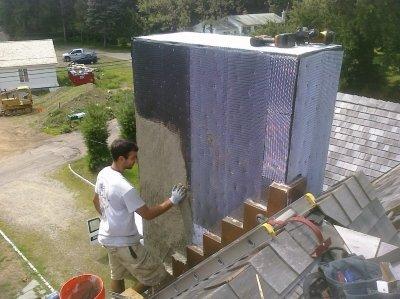 Chimney repairs and repainting