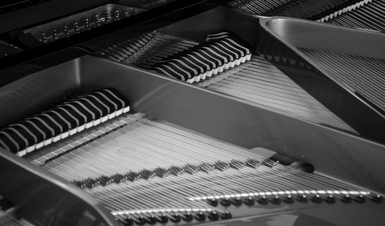 Internal workings of piano