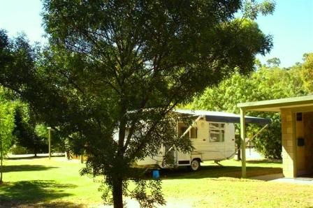Ensuite and drive through sites at Koondrook on the Murray River.