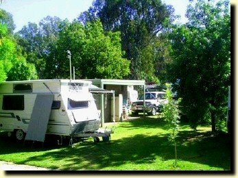 On site vans and camping at Koondrook