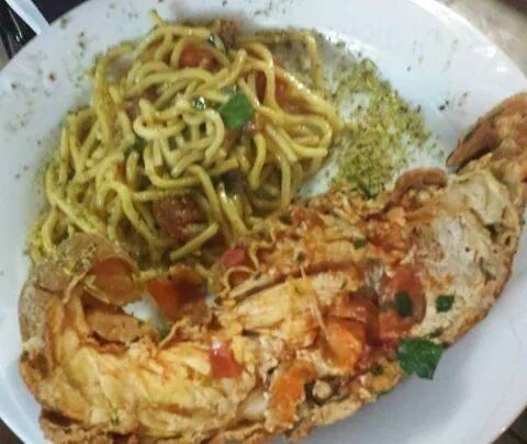 tagliolini con cicala grecae pistacchi