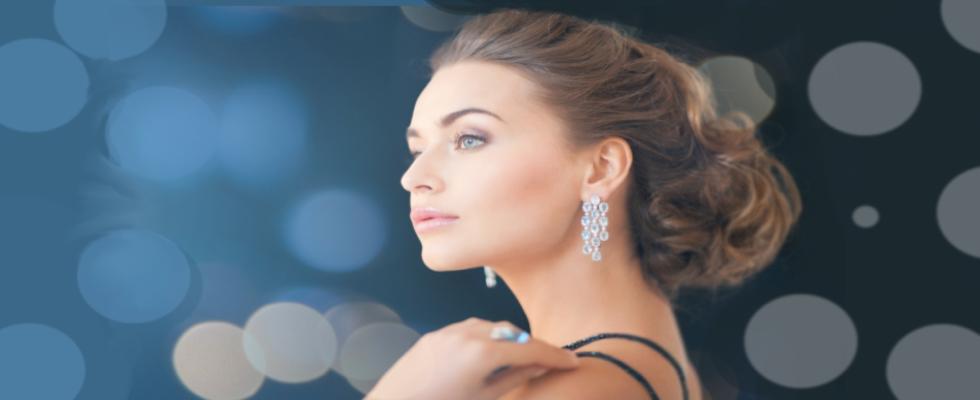 donna, orecchini, gioielli, diamanti