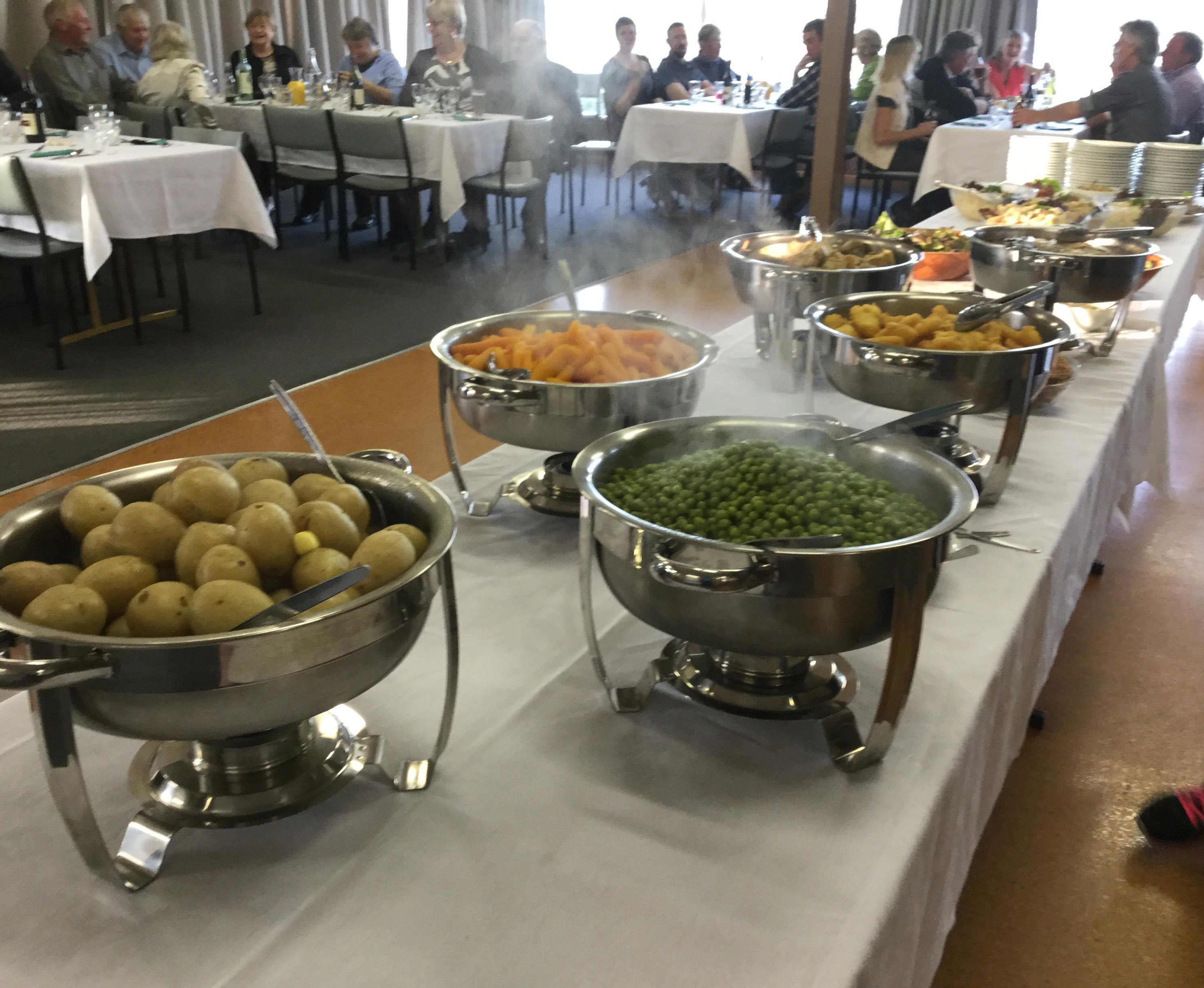Tasty catering food