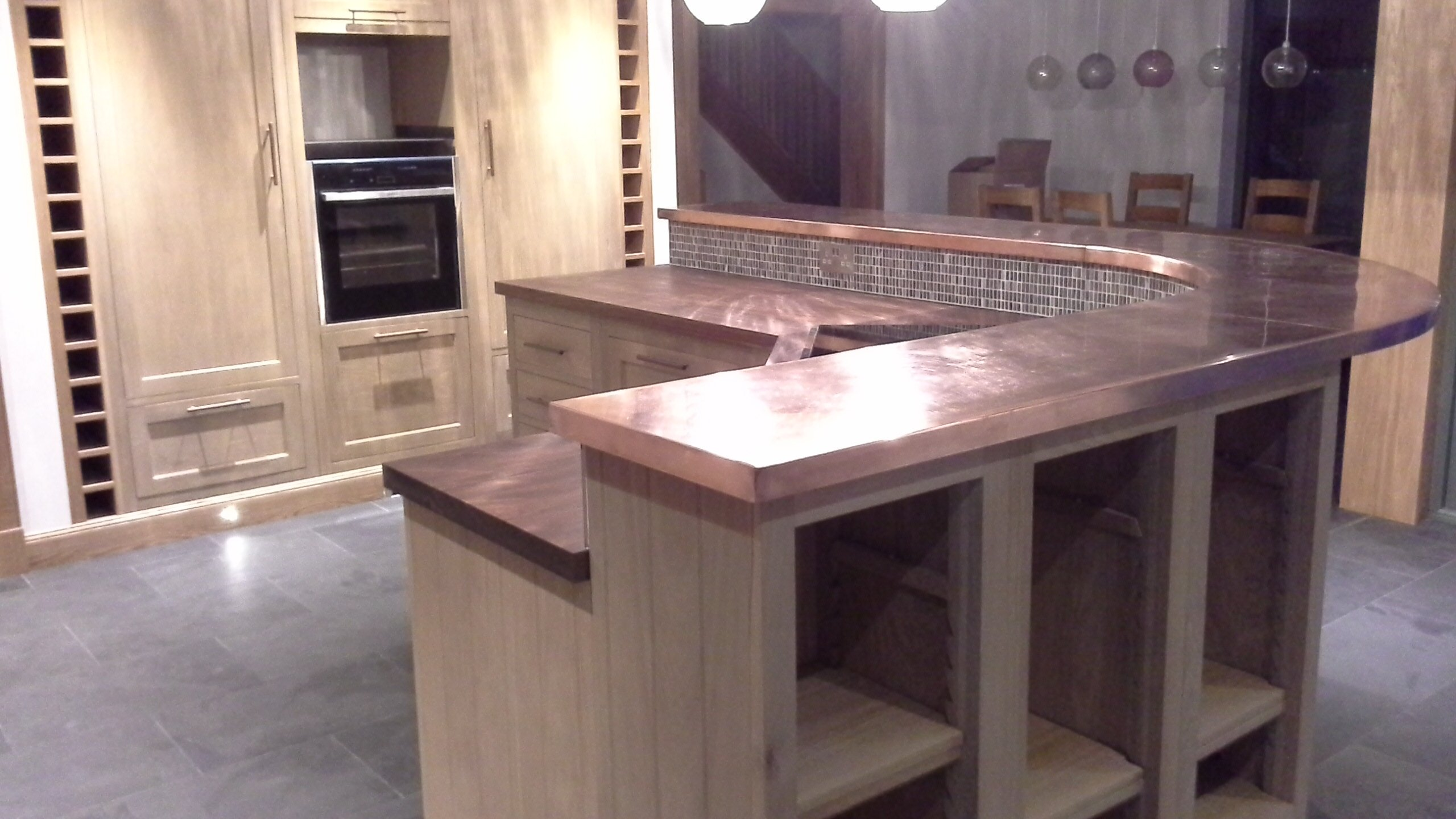 Bespoke Copper Kitchen Worktops