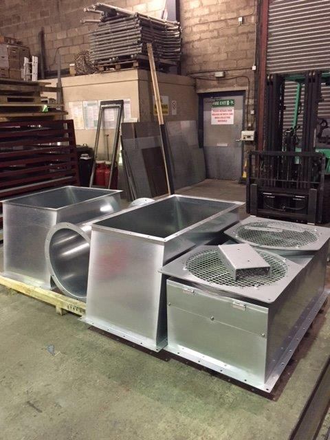 Galvanised HVAC Ductwork