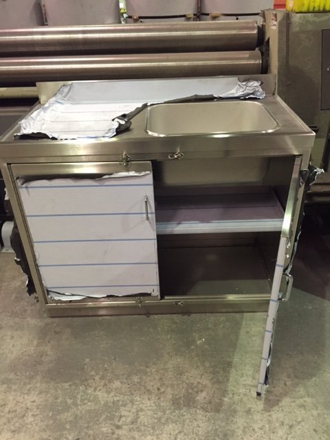 Stainless Steel Sink Unit with Fitted Shelf