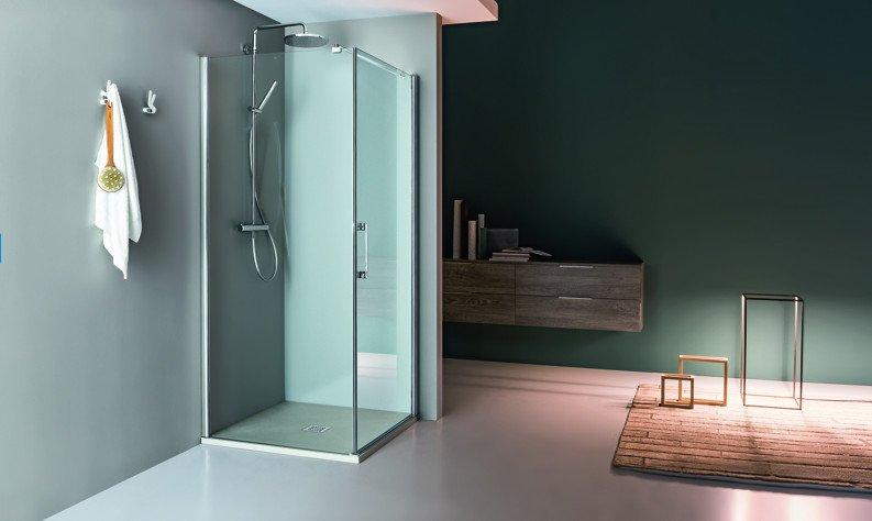 box doccia angolare a vetro squadrato
