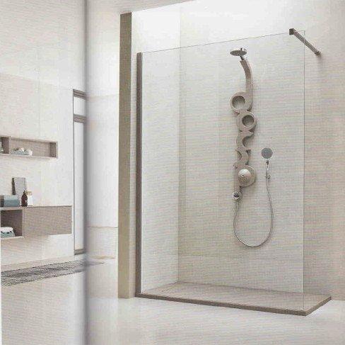 box doccia angolare privo di entrata