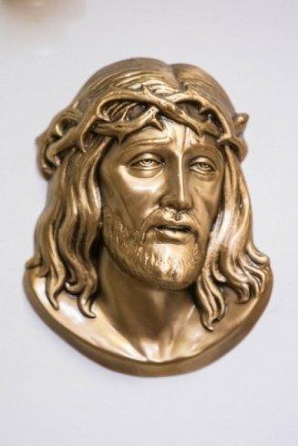 viso Gesù in bronzo