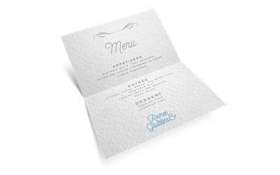 stampa menu matrimonio