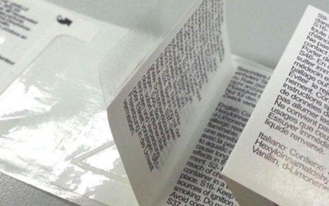 stampa etichette istruzioni