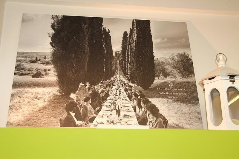 allestimento cerimonia Brunello Cucinelli