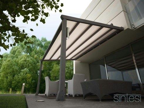 SINTESI Pergolato - Pergolato in alluminio con copertura scorrevole