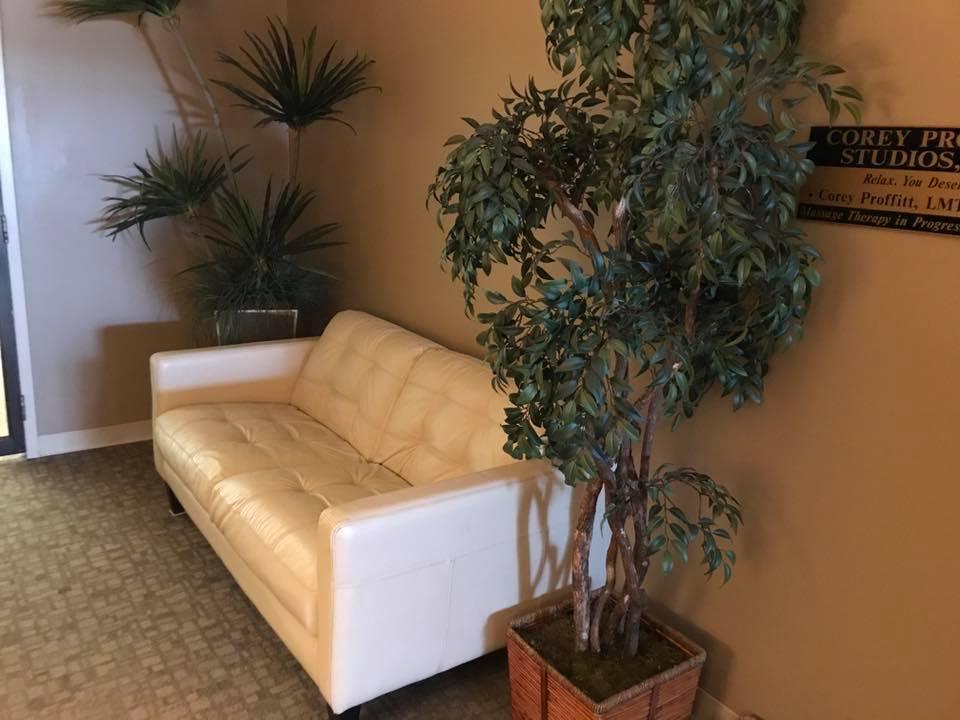Lobby at Corey Proffitt Studios Massage in Lexington KY