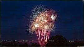 fuochi d'artificio acquatici
