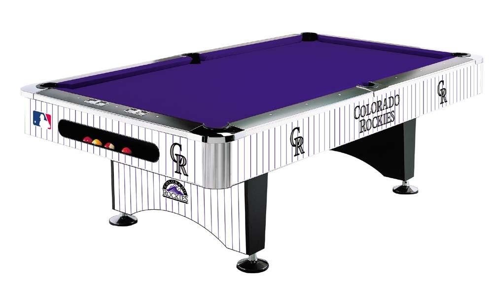 MLB Colorado Rockies Pool Table