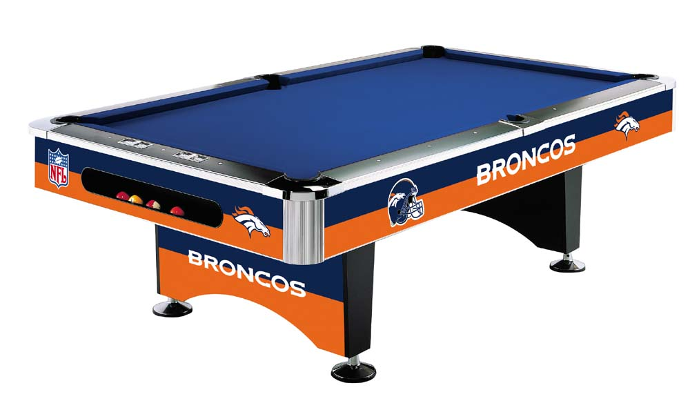 Denver Bronco Pool Table
