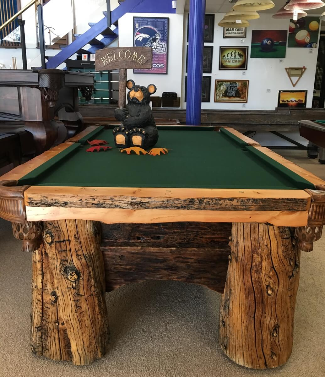 Custom Log Billiards Table From Best Quality Billiards