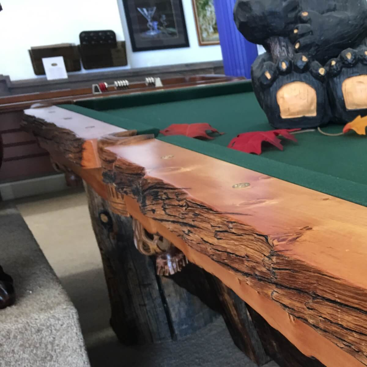 Custom Log Billiards Table From Best Quality Billiards