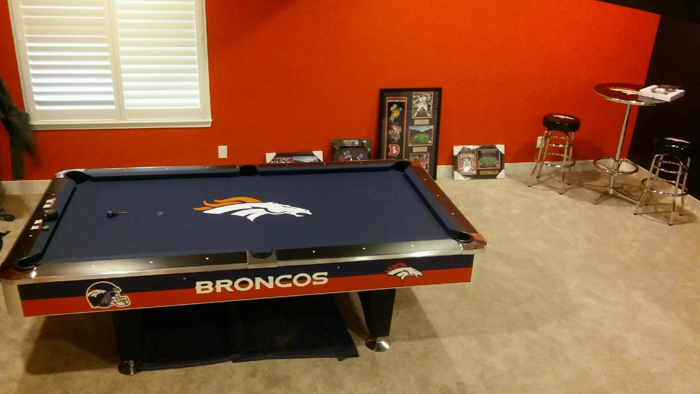 Official NFL Bronco Pool Table