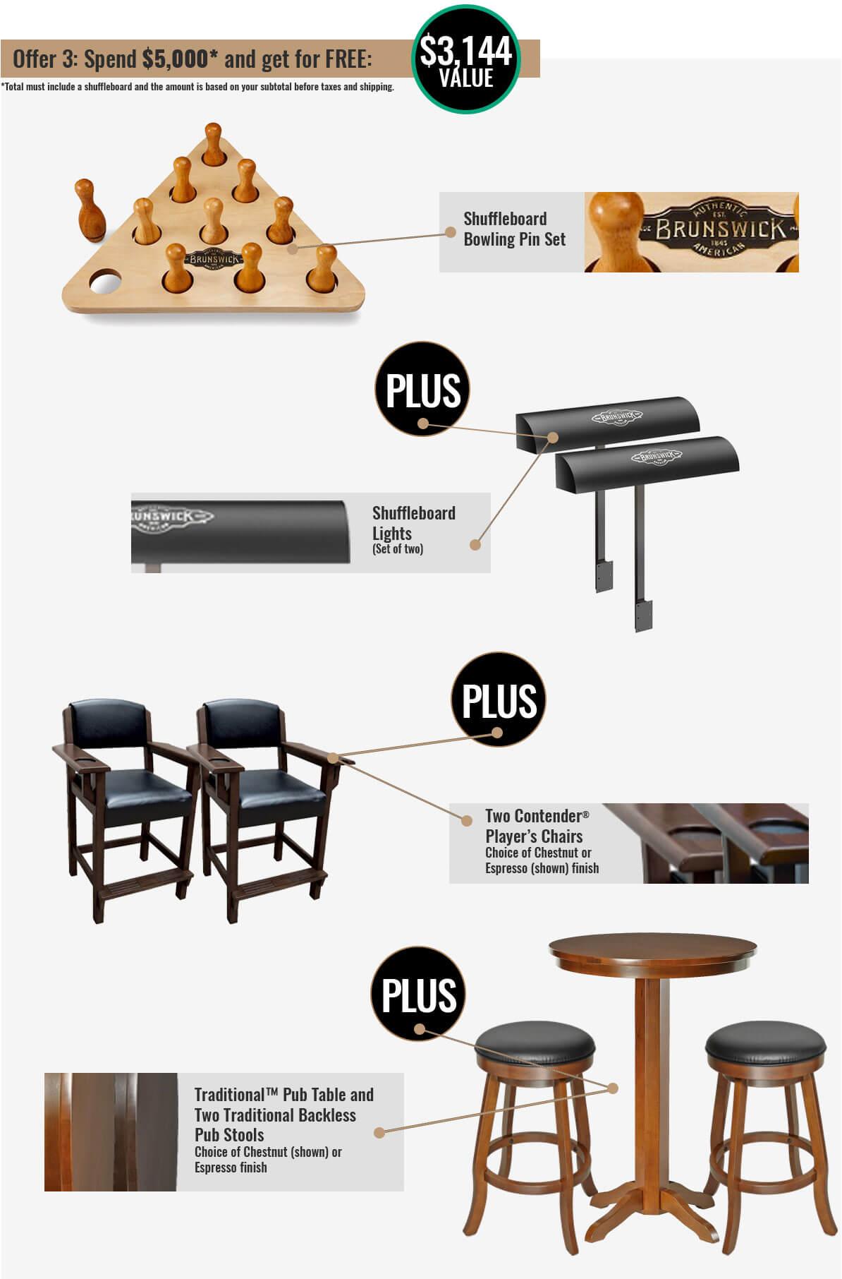 Brunswick Shuffleboard Promotion 3 at Best Quality Billiards