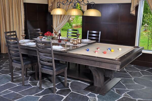 Canada Billiard La Conda Stainless 2 in 1 Pool Table