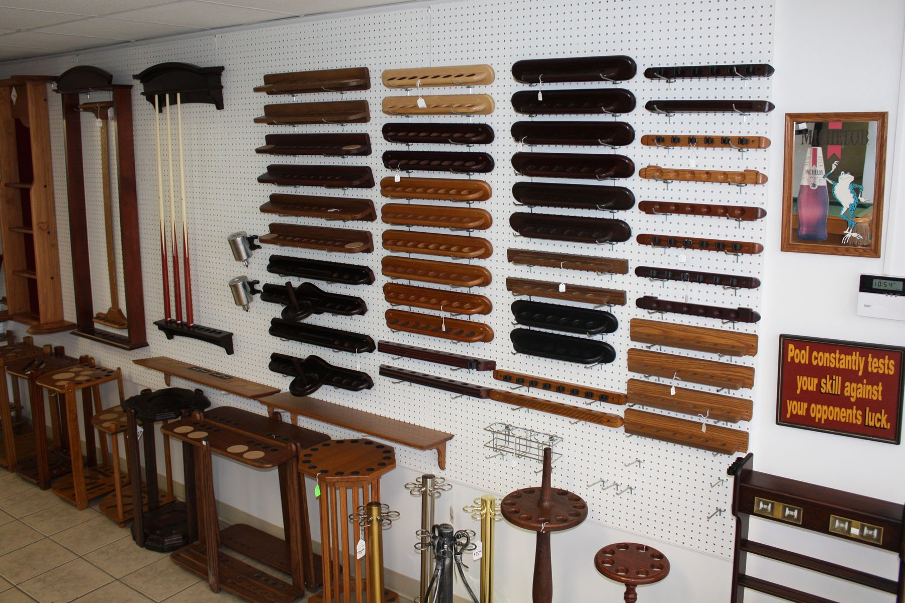 Cue Racks  wall racks in Denver at Best Quality Billiards