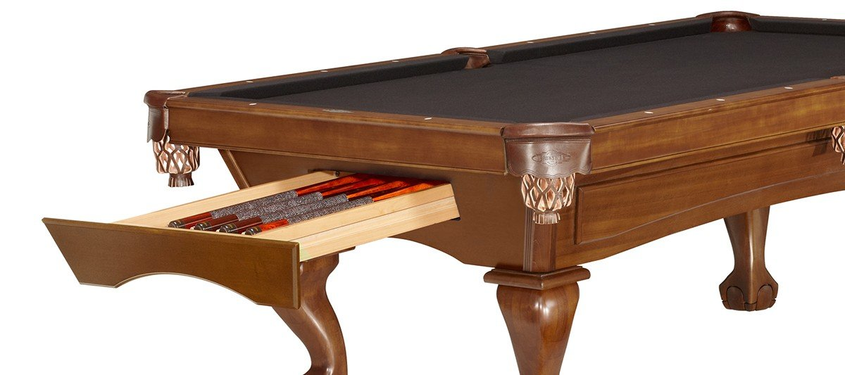 Pool table with hidden drawer
