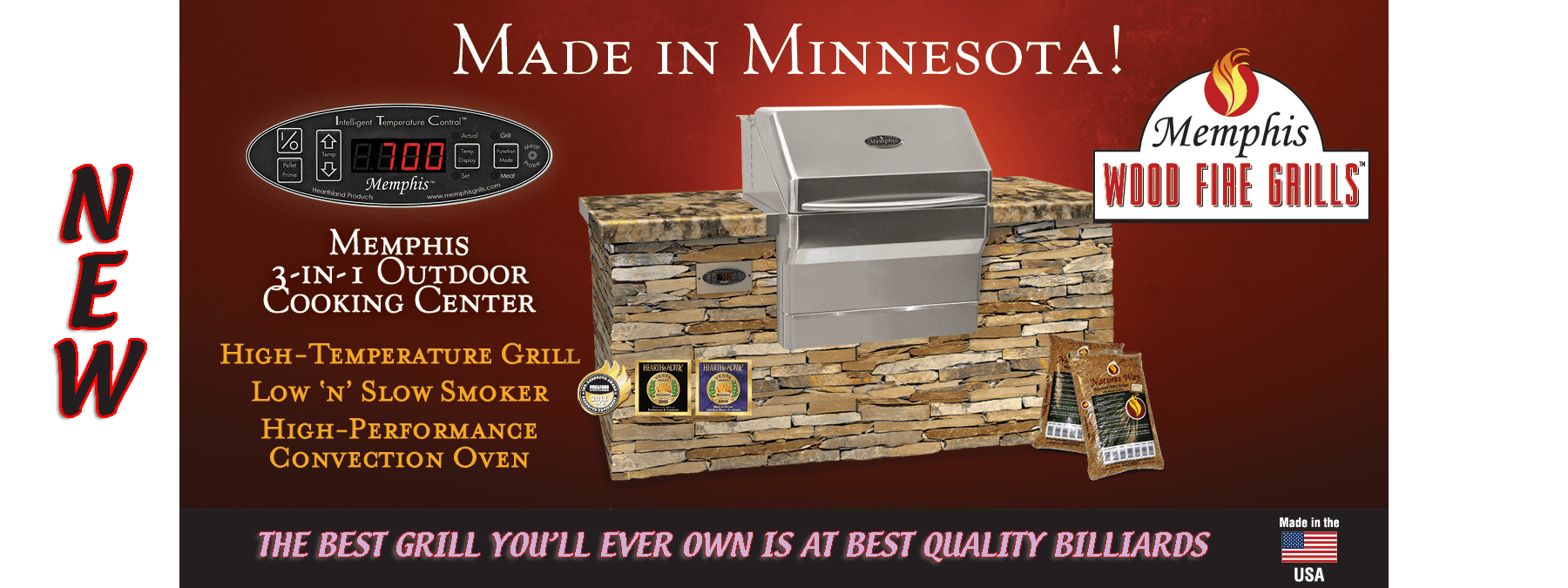 Memphis Wood Fire Pellet Grill At Best Quality Billiards