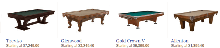 Brunswick Pool Tables at Best Quality Billiards