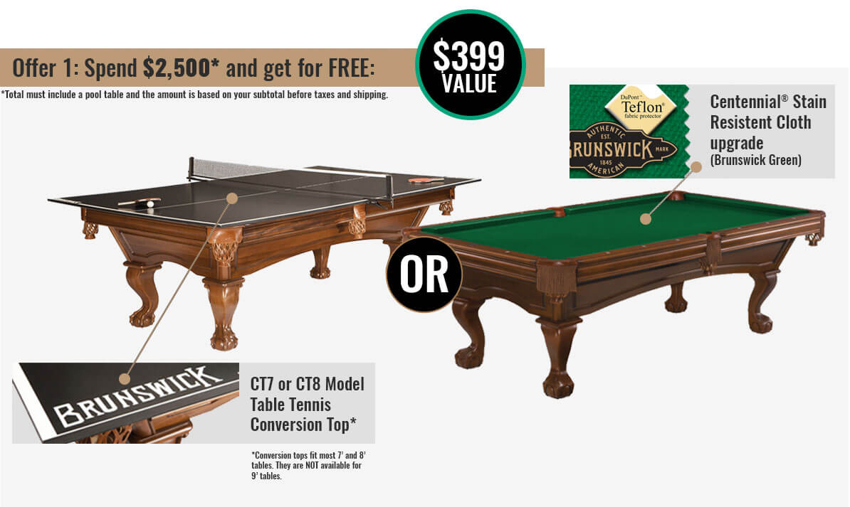 Get in the game brunswick promo available at best quality for Brunswick pool tables