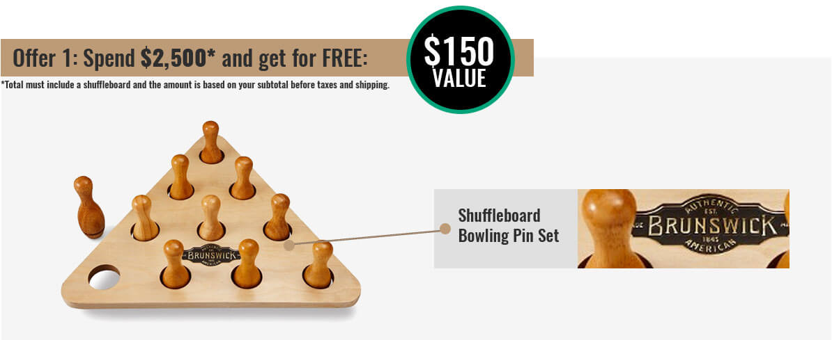 Brunswick Shuffleboard Promotion 1 at Best Quality Billiards