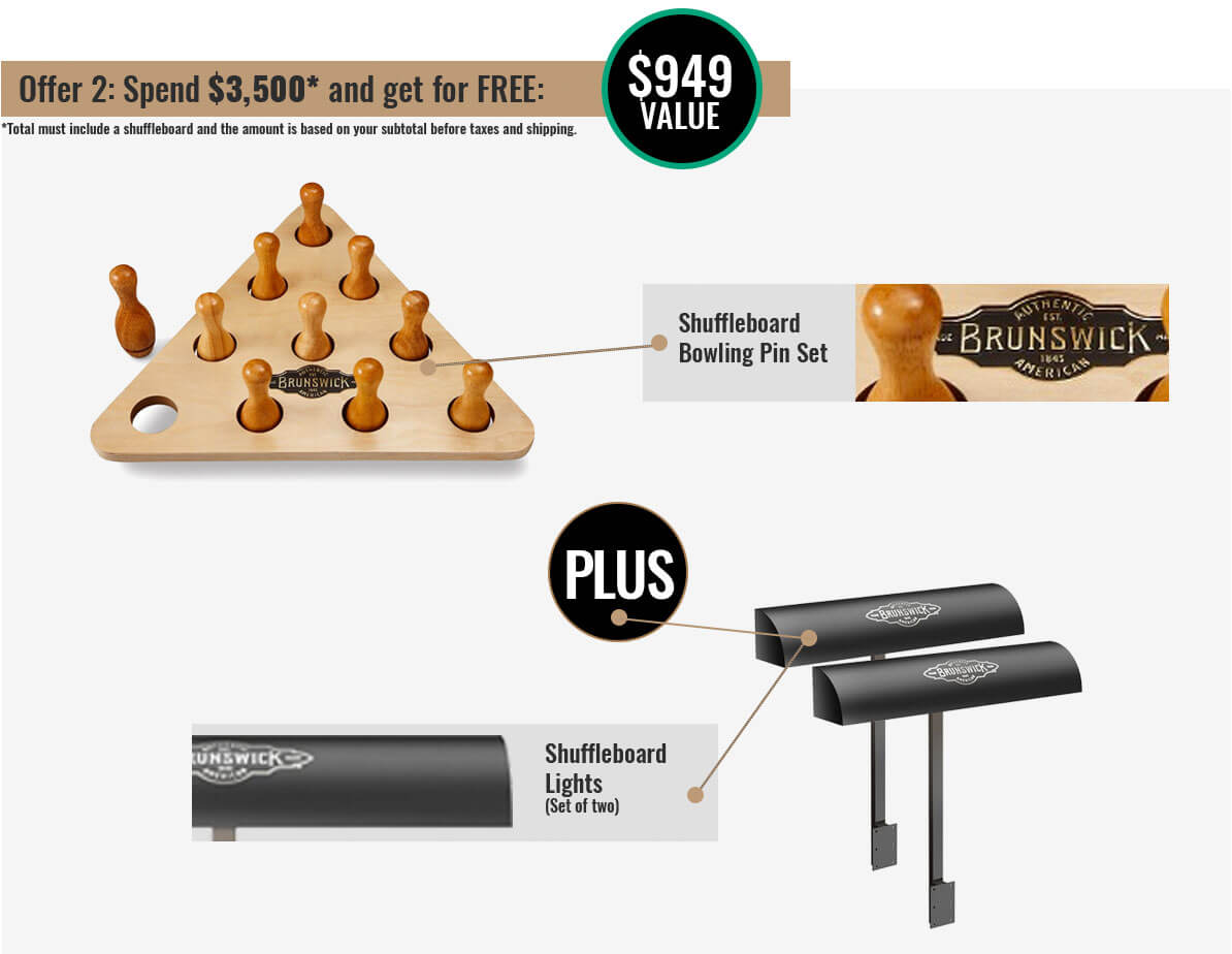 Brunswick Shuffleboard Promotion 2 at Best Quality Billiards