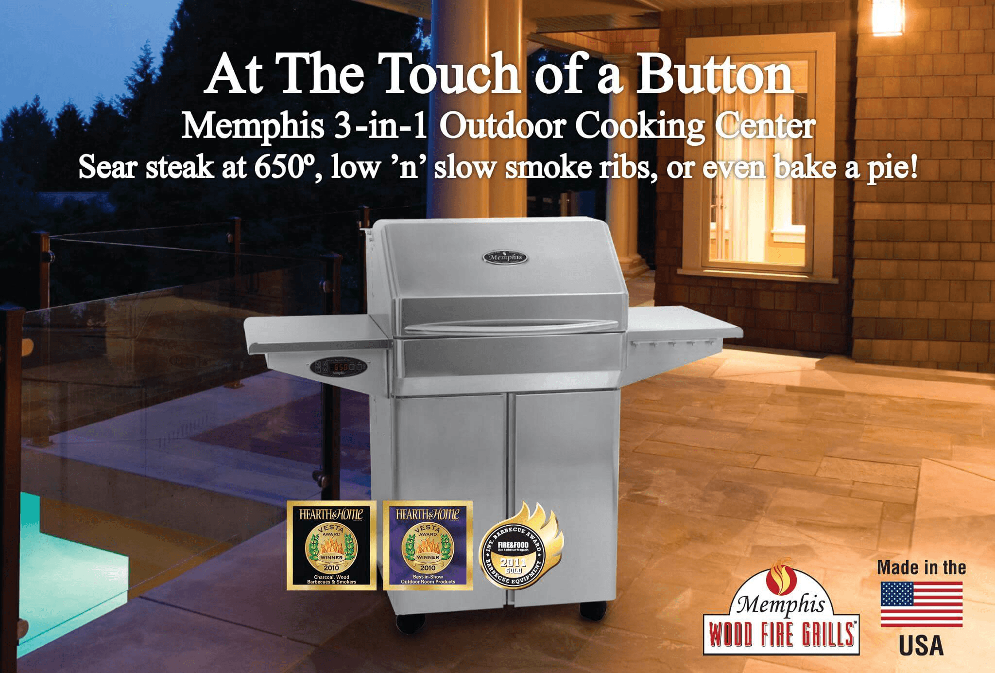 Memphis Pro Wood Fired Grill  Available at Best Quality Billiards