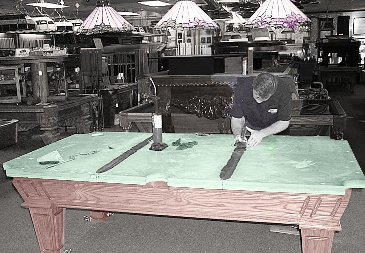 Pool Table Service -We move, recover & repair!