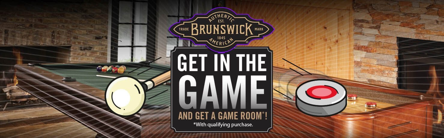 Brunswick Billiards Get In The Game  Pool Table Sales Special