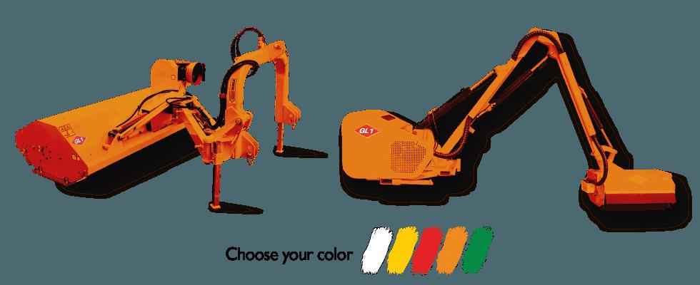 bracci e tranciatrici GL1 srl arancioni