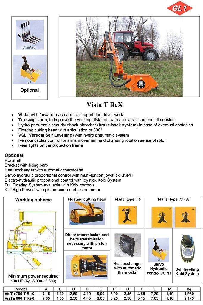 Vista 700 - 800 Trex
