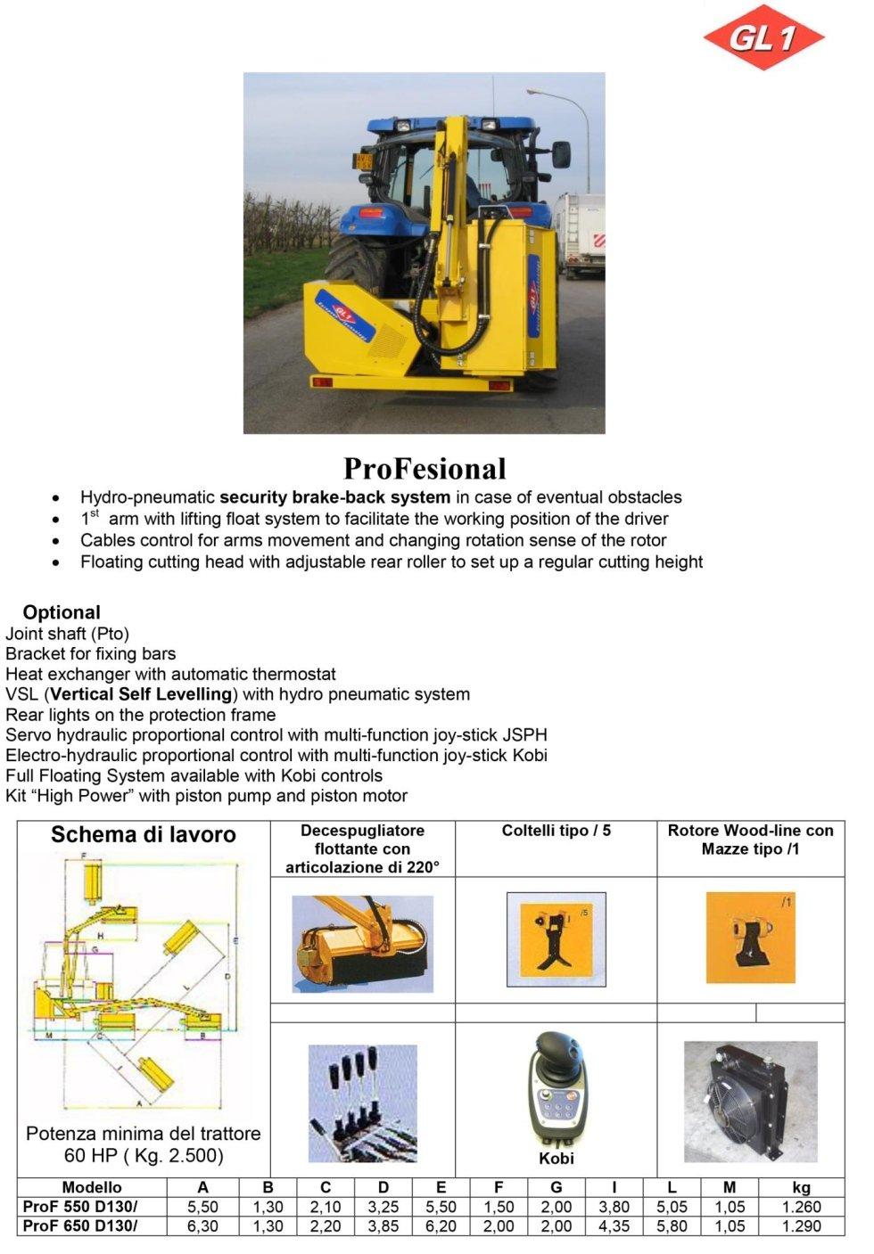 Professional 550 - 650