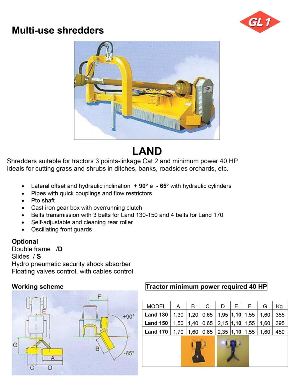 Multiuso Land 130 - 150 - 170