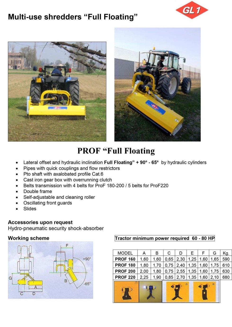 Multiuso ProF 160 - 180 - 200 - 220