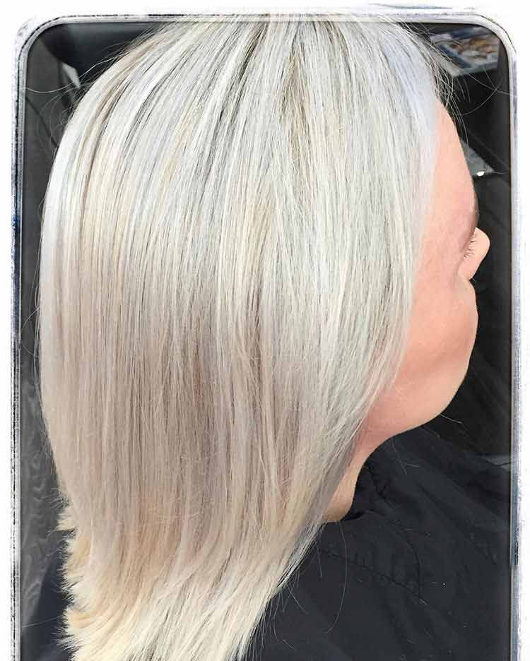 cool blonde highlighted hair