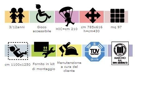 GL 384 Fortino Arcobaleno ( accessibile anche a bambini diversamente abili )
