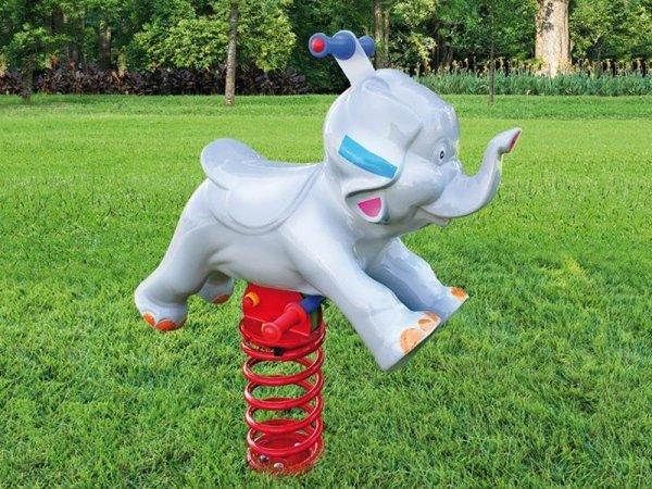 Elefante in vetroresina a molla