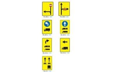 Segnali indicazione corsie automezzi