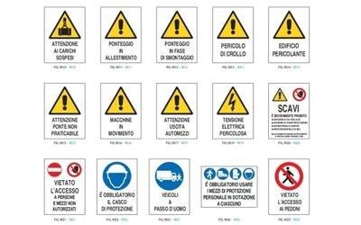 Segnaletica di pericolo cantiere
