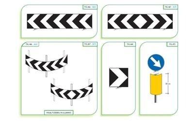 Segnaletica stradale curve pericolose