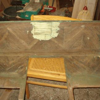 ristrutturazione, restauro scrivania, opere in legno