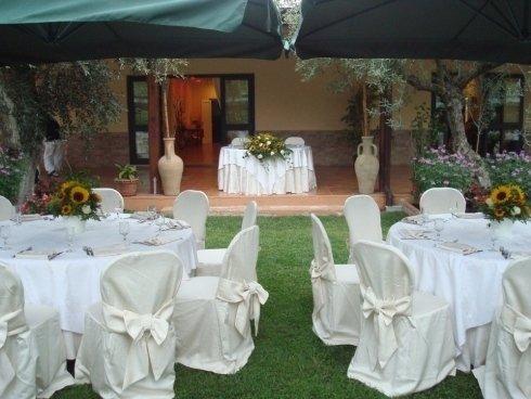 Tavolo per sposi esterno